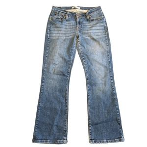 LEVI'S 527 Curvy Boot Cut Distressed Jeans 12 Med